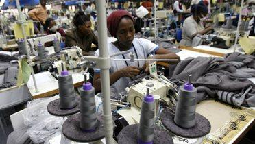 work in textile manufacturing factory in Africa