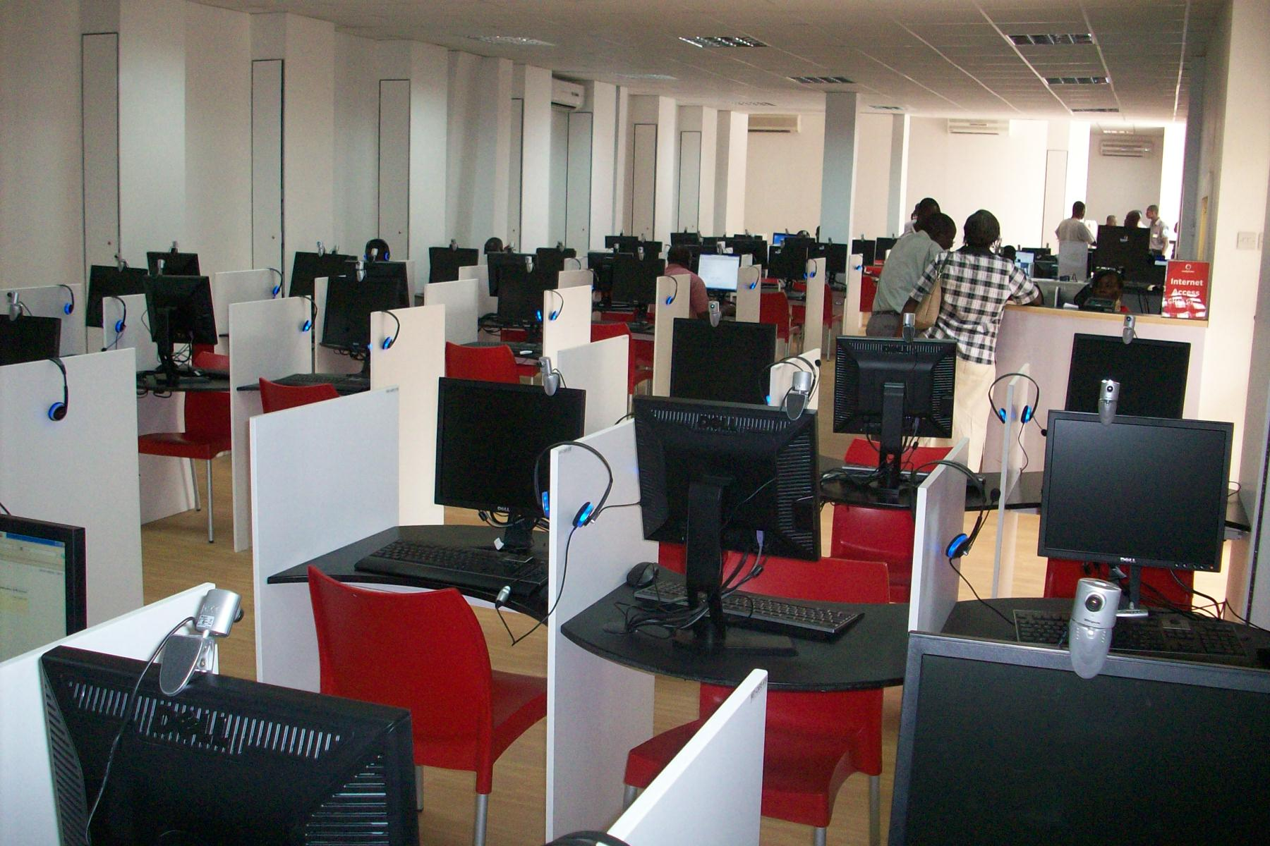 One Computer Internet Café and Call Center in Africa