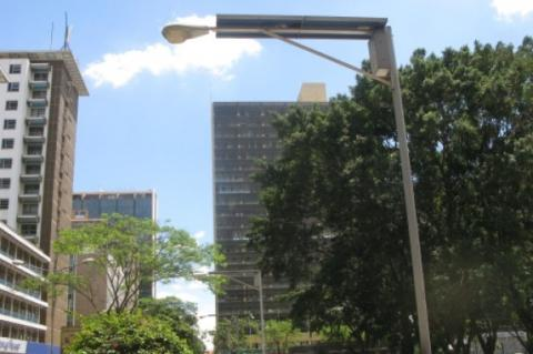 Solar street lamps help in Africa