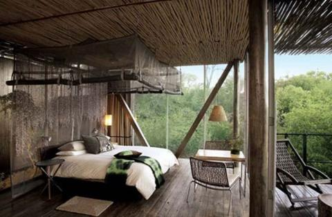 African Safari Style Bedroom
