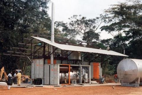 Palm oil extractor in Africa