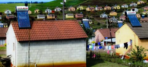 realized that nearly every house we passed had a solar hot water heater