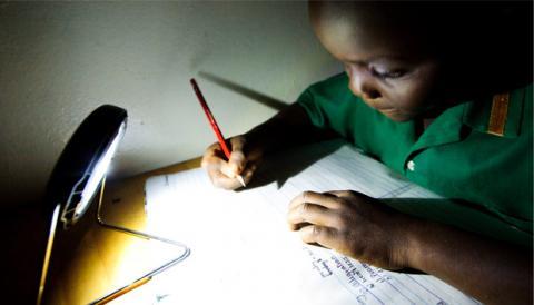 Solar hand light in Africa