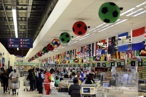 Carrefour market in Africa